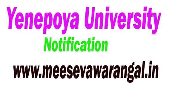 Yenepoya University PG Courses 2018-19 Admission Notification