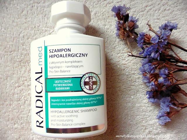radical med szampon, szampon hipoalergiczny, szampon do wrażliwej skory glowy