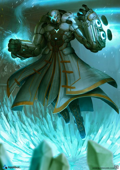 Bjorn Hurri ilustrações artes conceituais fantasia games Applibot - Frostmaster