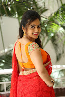 Lasya Cute Beauty in Saree Backless Choli at her Interview ~  Exclusive 071.JPG