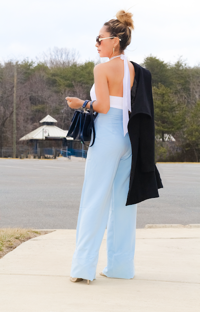 wide leg high waisted palazzo pants
