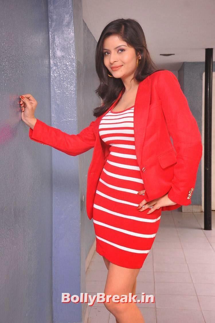 , Actress Gehana Vasisth hot Photos in Red Dress