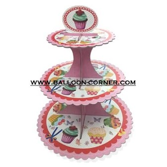 3 Tier Cake Stand Motif Cup Cake (02)