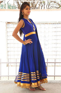 Actress Harisha Krishna Stills in Beautiful Blue Chudiddar  0053.jpg
