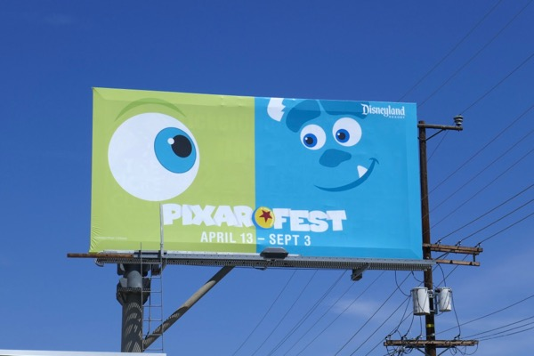 Mike Wazowski Sulley Pixar Disneyland billboard
