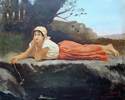 Fanny Caillé,  At The Sping, d'après un tableau de Jacqueline Comerre-Paton