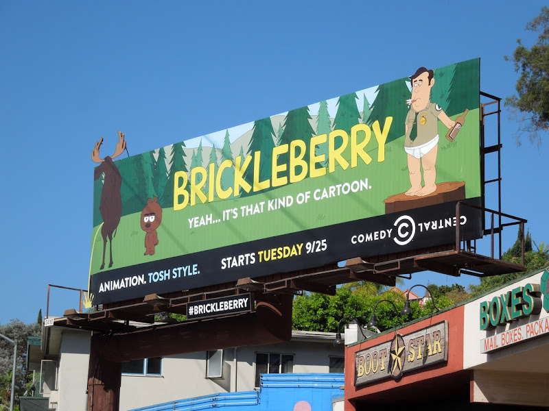 Brickleberry season 1 cartoon billboard