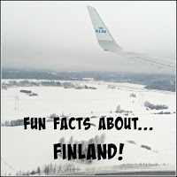 View from a KLM aircraft flying over Finland