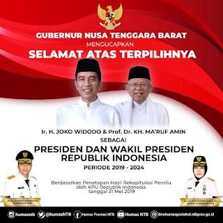 Dr Zulkieflimansyah, Gubernur Pertama yang Ucapkan Selamat kepada Jokowi-Amin