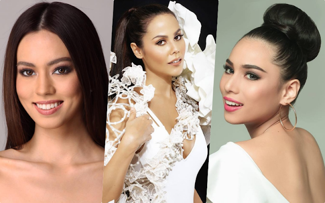 Filipinas in Silver Pageants (left to right): Laura Lehmann (Miss World 2017), Chanel Thomas (Miss Supranational 2017) and Elizabeth Clenci (Miss Grand 2017)