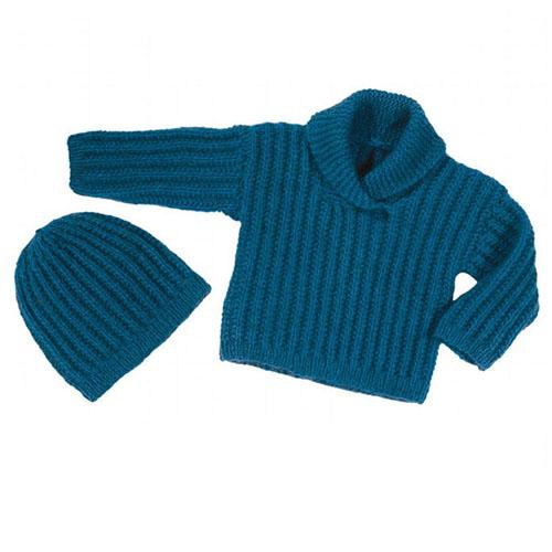 Baby Sweater & Hat - Free Pattern