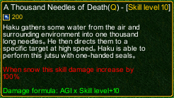 naruto castle defense 6.0 A Thousand Needles of Death detail