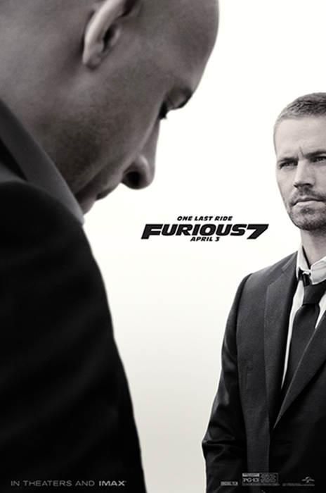 Poster Fast And Furious 7: Vin Diesel şi Paul Walker