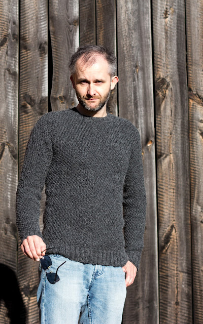 DIY Knitted Mens Sweater Pullover für Herren selber stricken