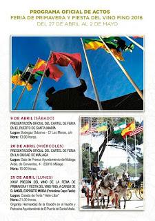 Feria de Primavera y Fiesta del Vino Fino de El Puerto de Santa María 2016 - Programa 01