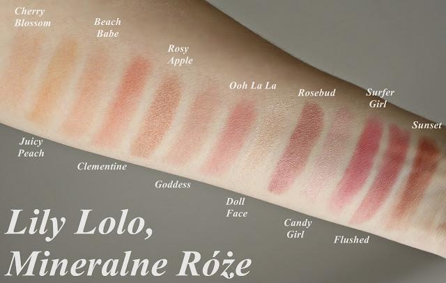 Lily Lolo, Mineralny róż do policzków swatche