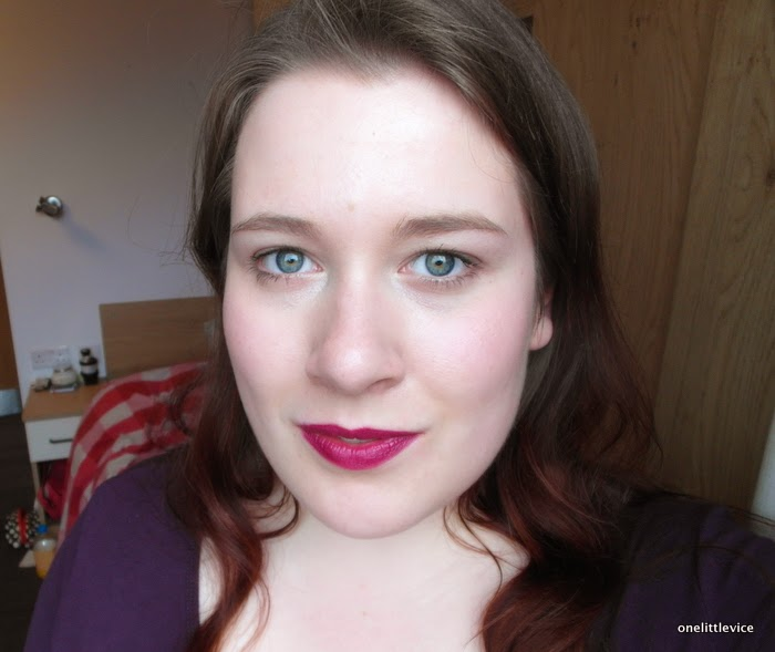 fotd berry long lasting lip colour