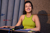 Actress Catherine Tresa Pos during Self Dubbing for Gautham Nanda Movie  0001.JPG