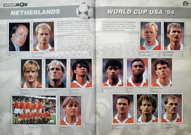 WORLD CUP USA '94 STICKER ALBUM COLLECTION GROUP F NETHERLAND