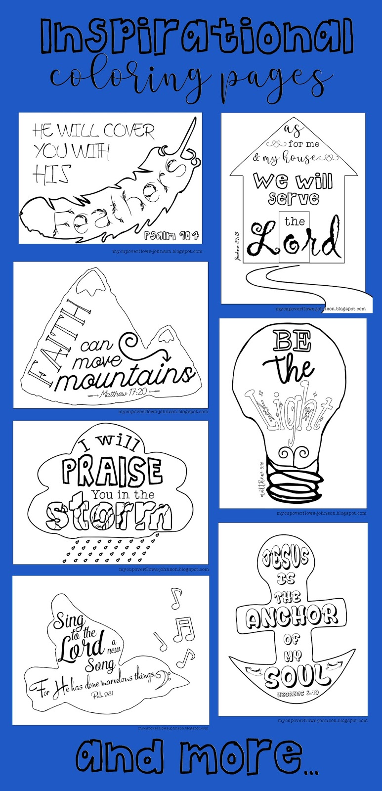 My Cup Overflows Inspirational Coloring Pages
