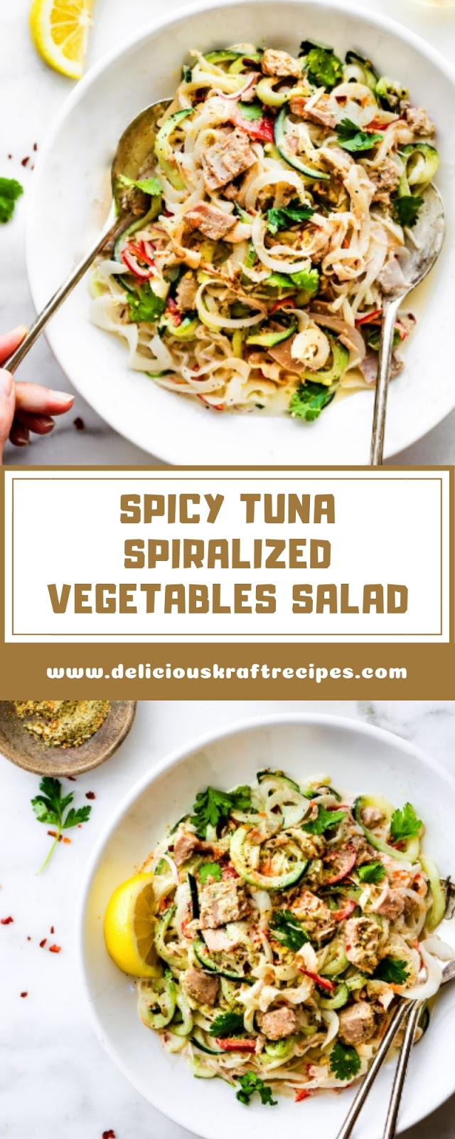 SPICY TUNA SPIRALIZED VEGETABLES SALAD