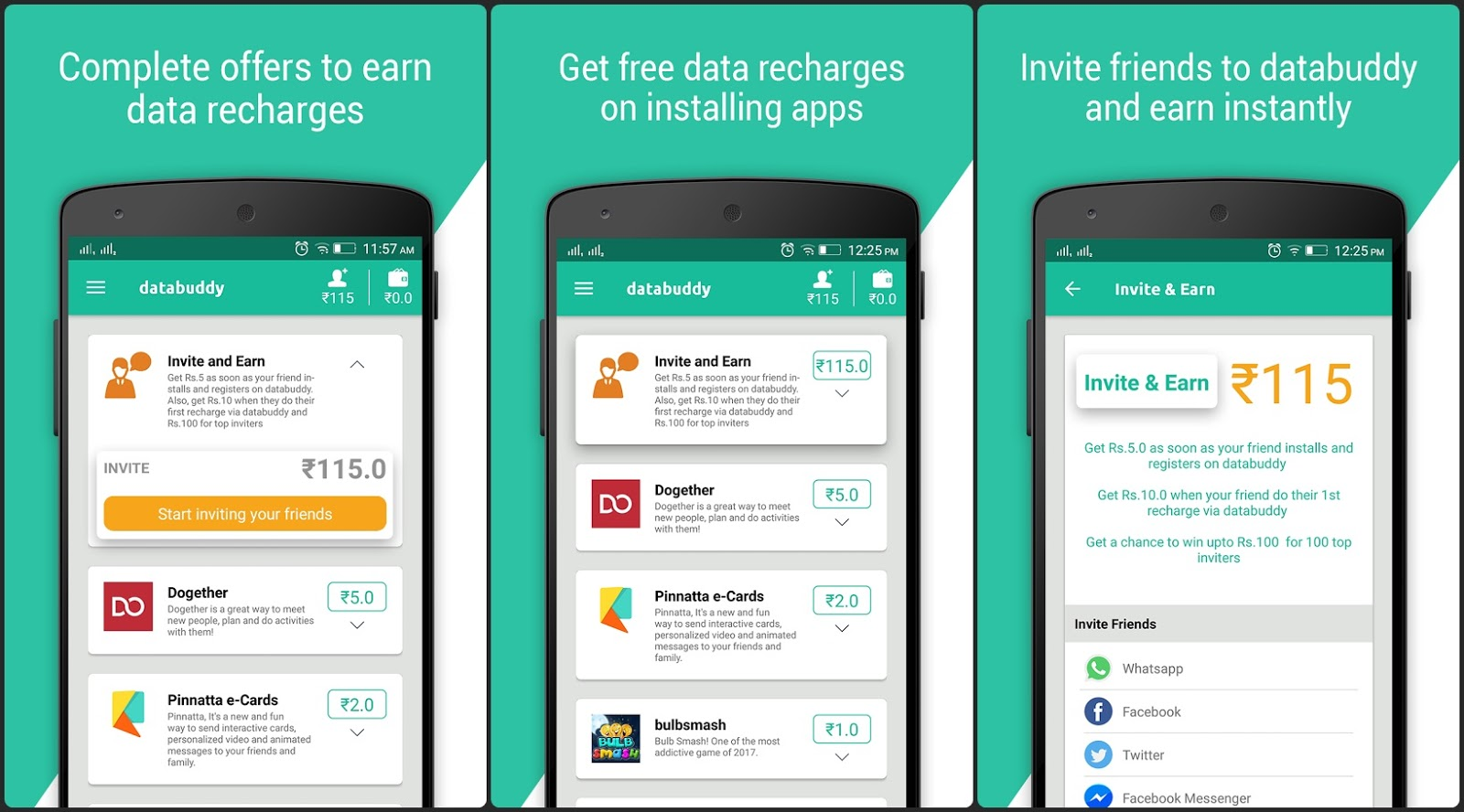 Earn Paytm Cash By Trying Apps on Databuddy