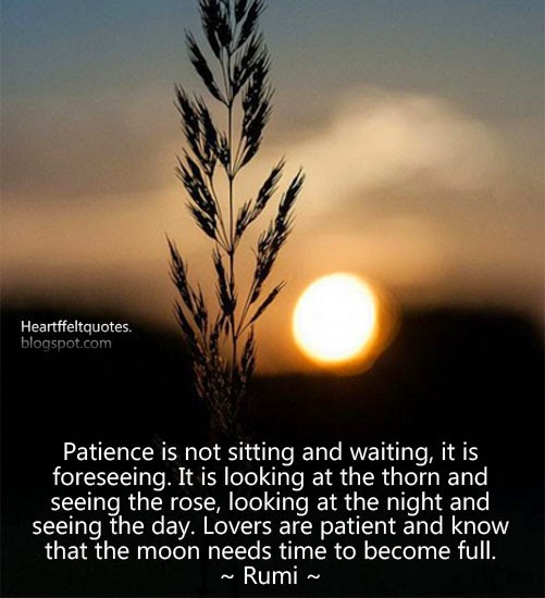 Gentil Patience Is Not Sitting And Waiting, It Is Foreseeing. Heartfelt Love And L.