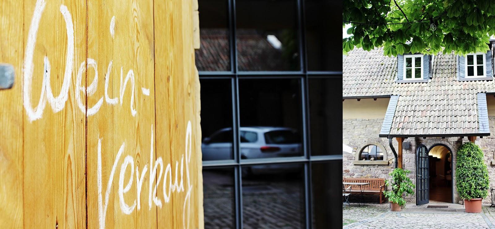 Der Innenhof des Weinguts Wagner-Stempel in Siefersheim