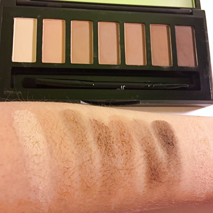 e.l.f. Shadow, Brow, and Liner Palette swatches