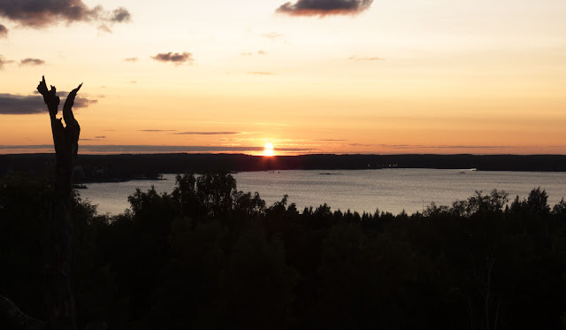 Finland road trip in summer: Stunning sunset on a road trip stop in Kotka Finland