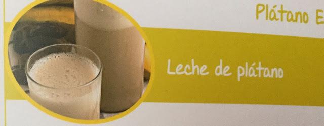 Leche de plátano    Receta con Plátano Enano