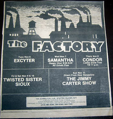 The Factory rock club... our second home after the Rock Palace in Staten Island