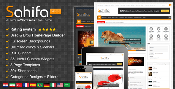 Sahifa responsive theme for blogger Free Download