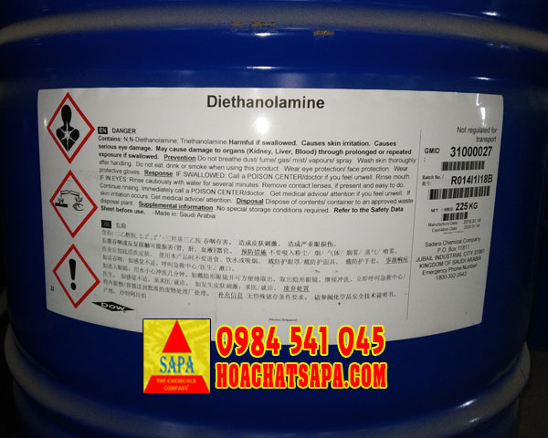 Dung môi Diethanolamine DEA - trợ nghiền xi măng