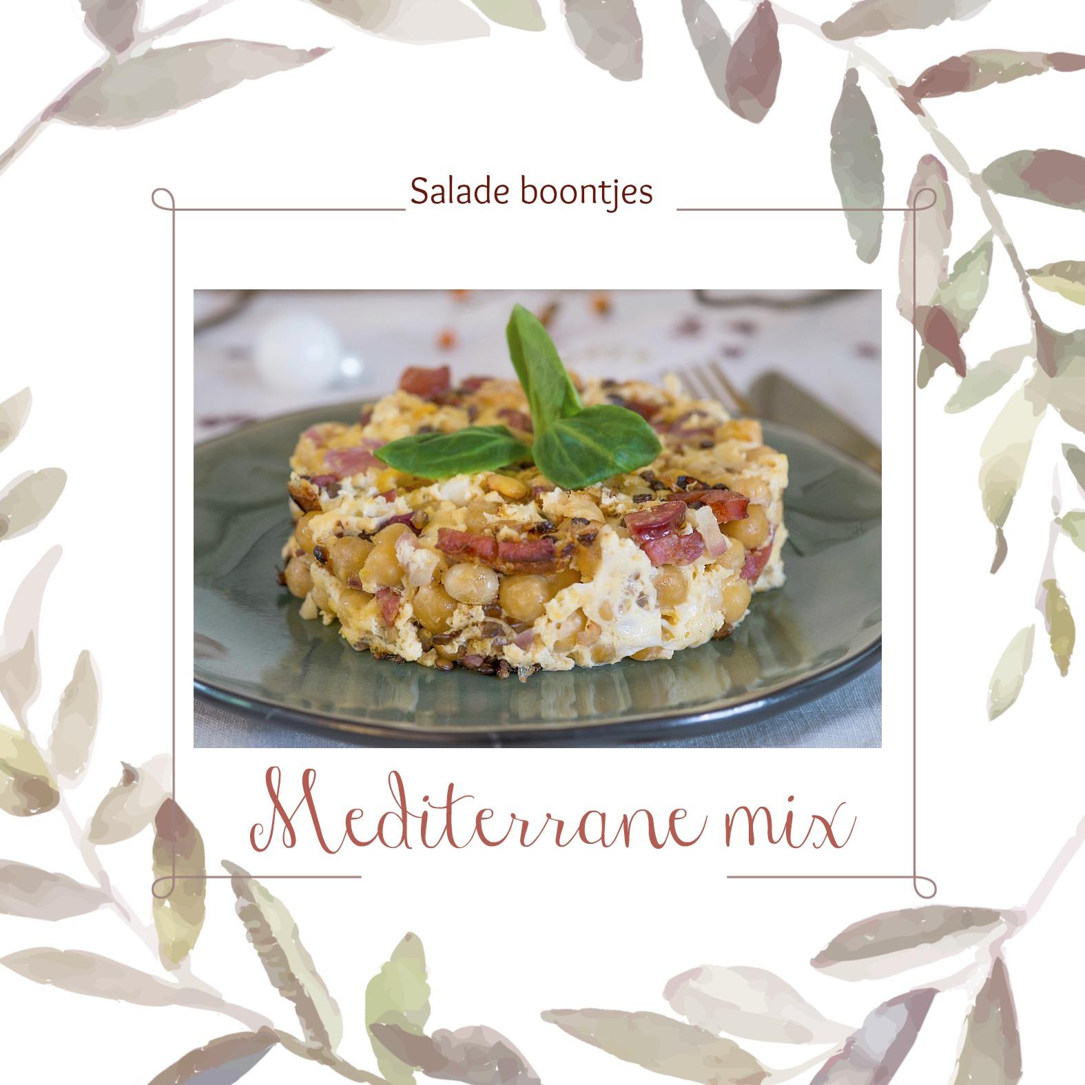 Salade boontjes, Mediterrane mix als voorgerecht