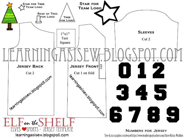 Elf on the Shelf: Free Sports Jersey Printable Template