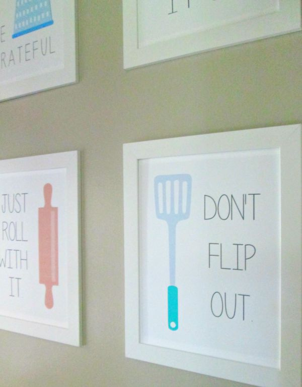 Mix it up with printable kitchen wall art
