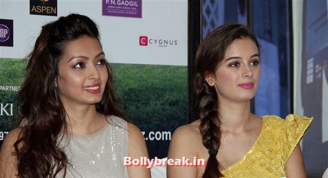 Pooja Salvi and Evelyn Sharma, Evelyn Sharma & Pooja Salvi at Nyuzmakers Cricket Challenge 2014 Inauguration