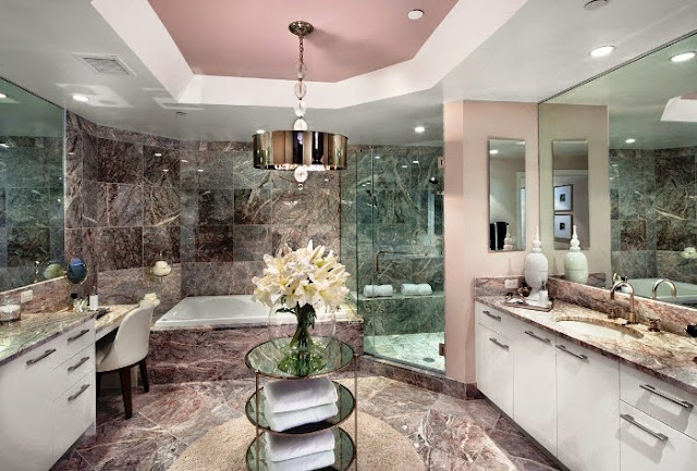 wall color for marble bathroom