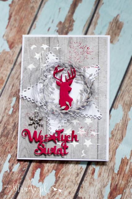 Ręcznie robiona kartka świąteczna.