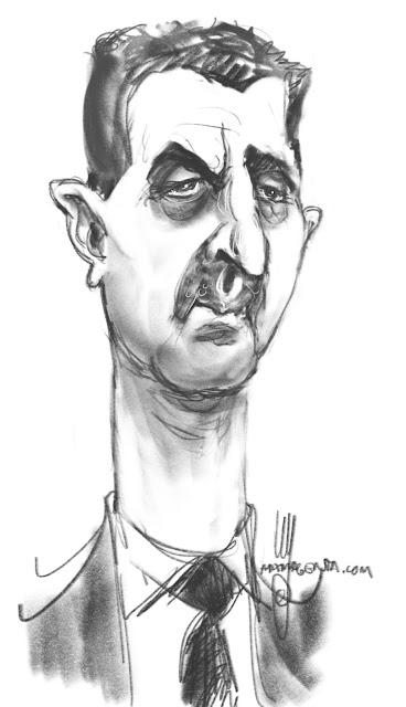 Bashar Al-Assad A caricature by Ulf Artmagenta