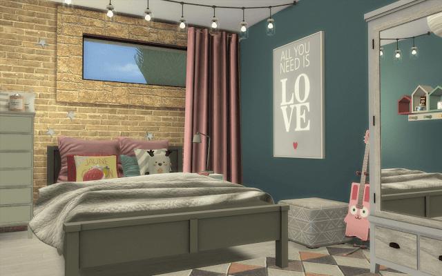 chambre ado Sims 4