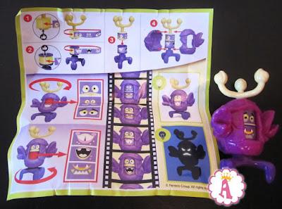 Игрушки сюрпризы на Хэллоуин в Kinder Maxi Monsters