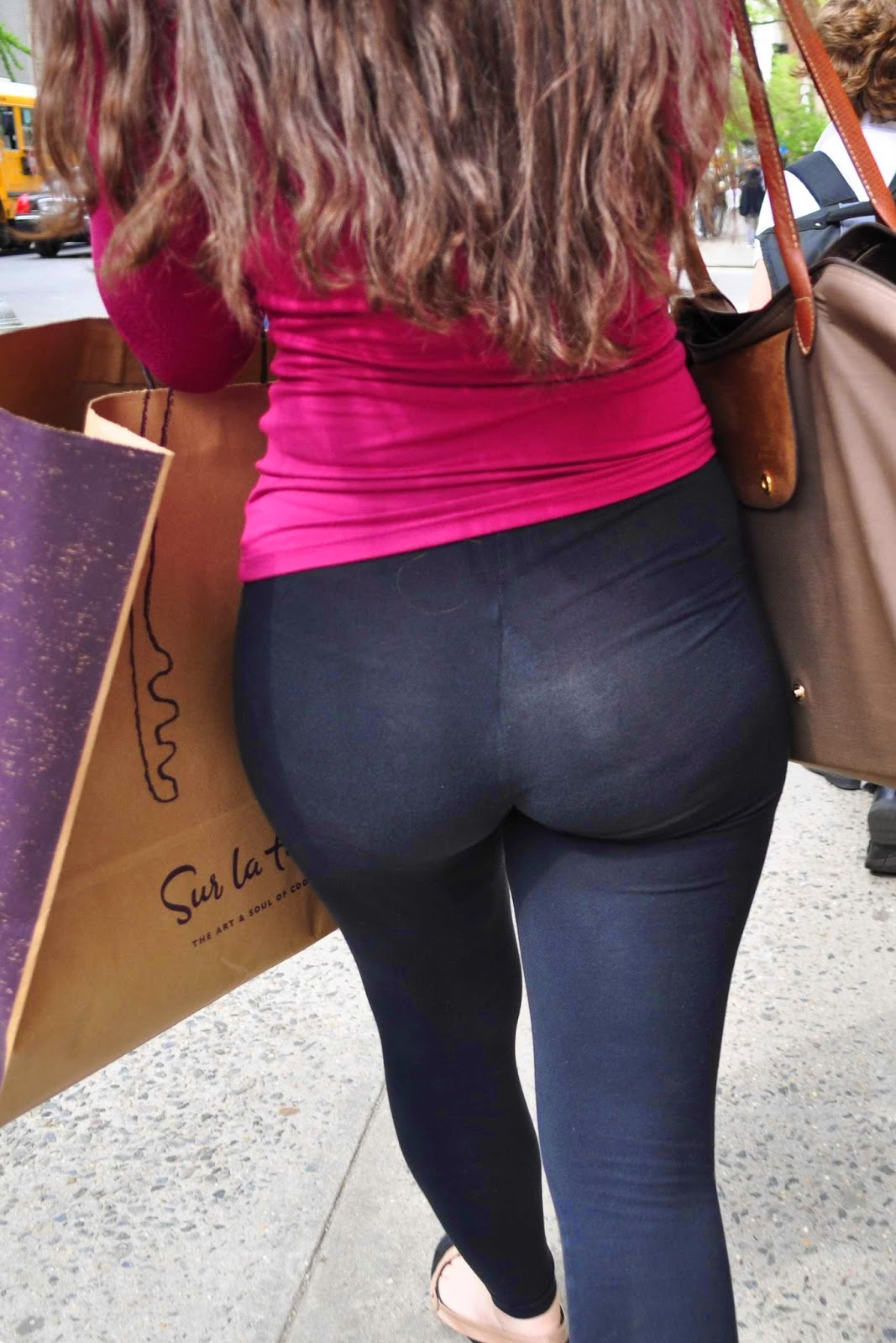 Hot girls in spandex leggings