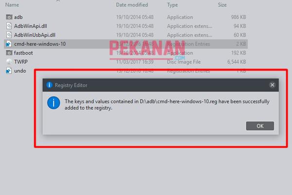 Cara Memunculkan CMD Saat Menekan Shift+klik kanan Di Windows 10 Creatror Update