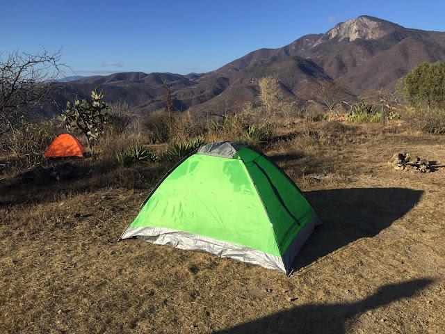 acampar en hierve el agua