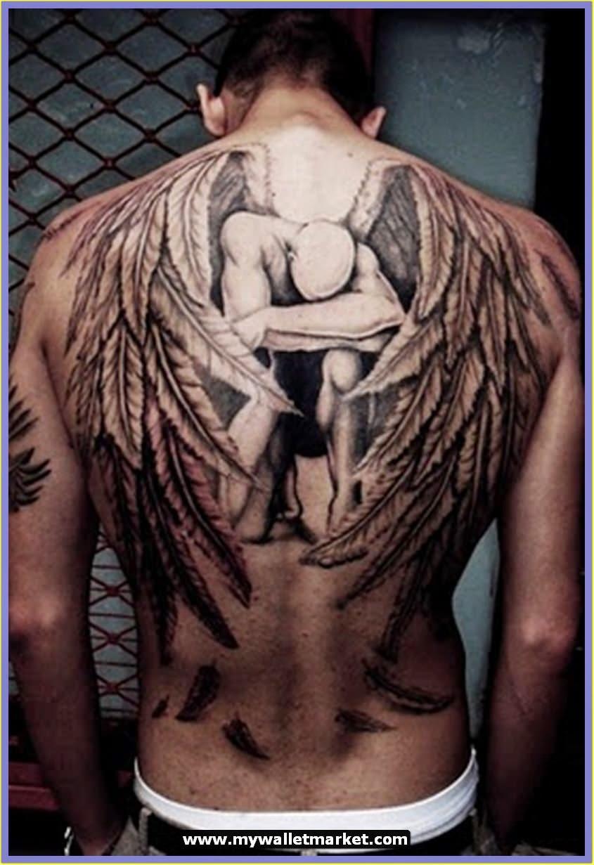 amazing tattoo designs for men back angel