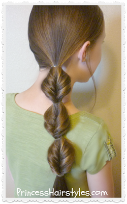flip braid side ponytail (faux fishtail or topsy tail braid)