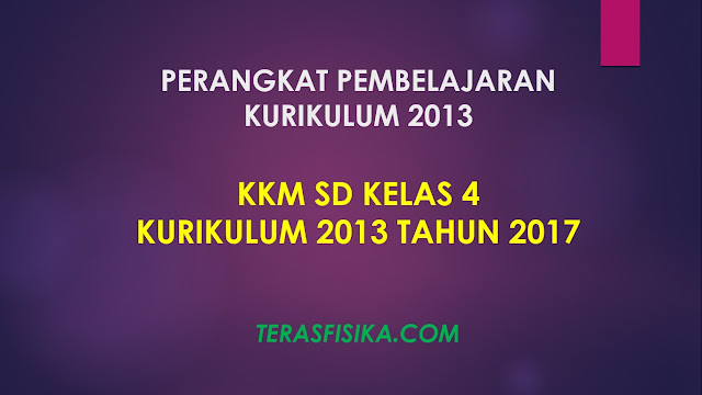 Download KKM SD Kelas 4 Kurikulum 2013 Revisi 2017