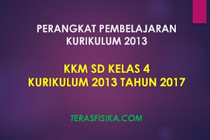 Download KKM SD Kelas 4 Kurikulum 2013 Revisi 2017